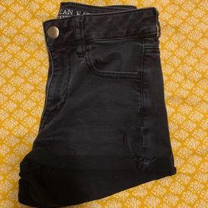 High Rise Black Shorts